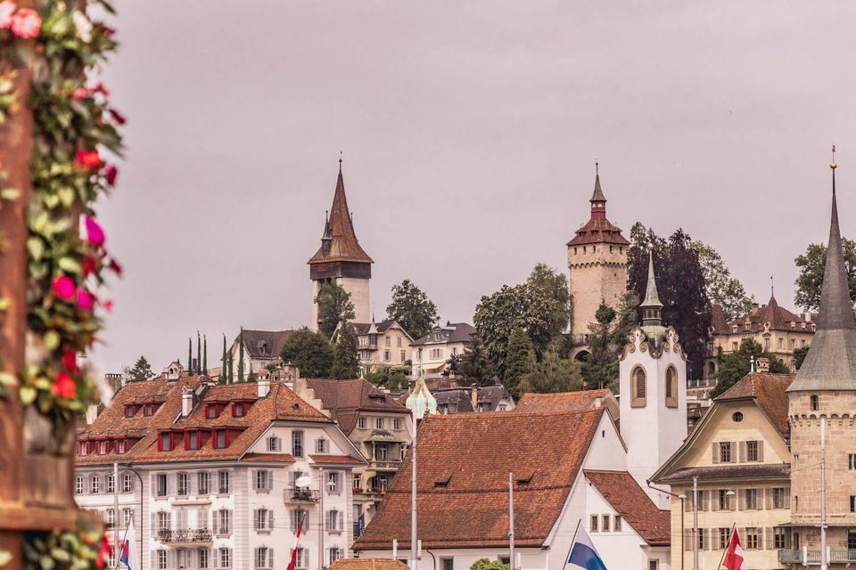 Musegg Wall Towers in Lucerne, Switzerland