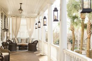 Veranda of the Zero George Street hotel in Charleston