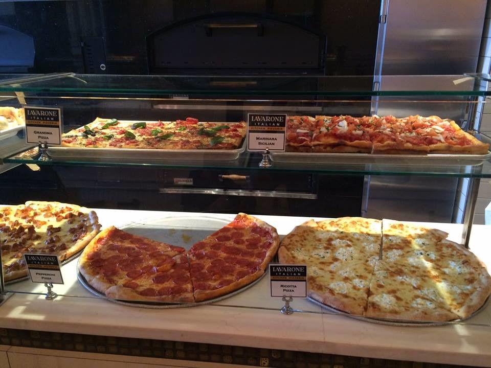 Pizza selection at Iavarone Café