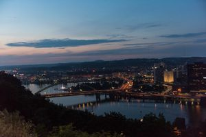 View of Pittsburgh from Mount Washington at twilight