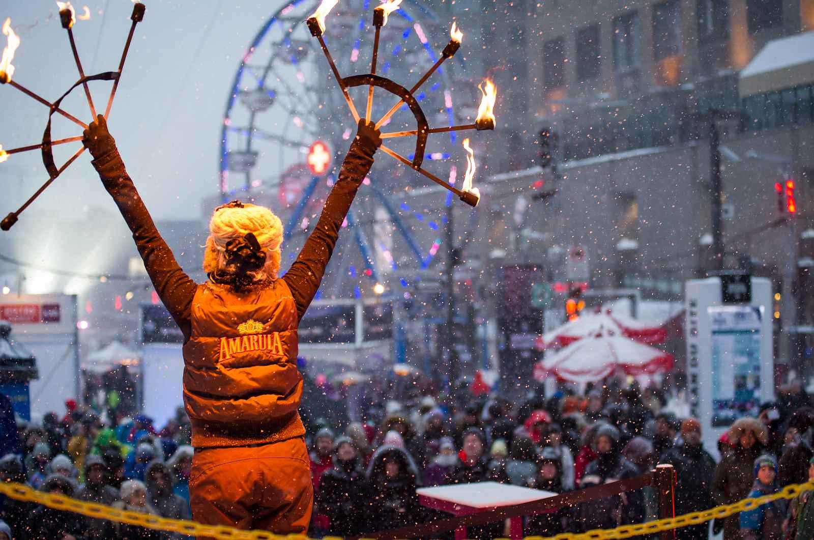 Montreal festivals in February 2016 include Montréal en Lumière, Nuit Blanche