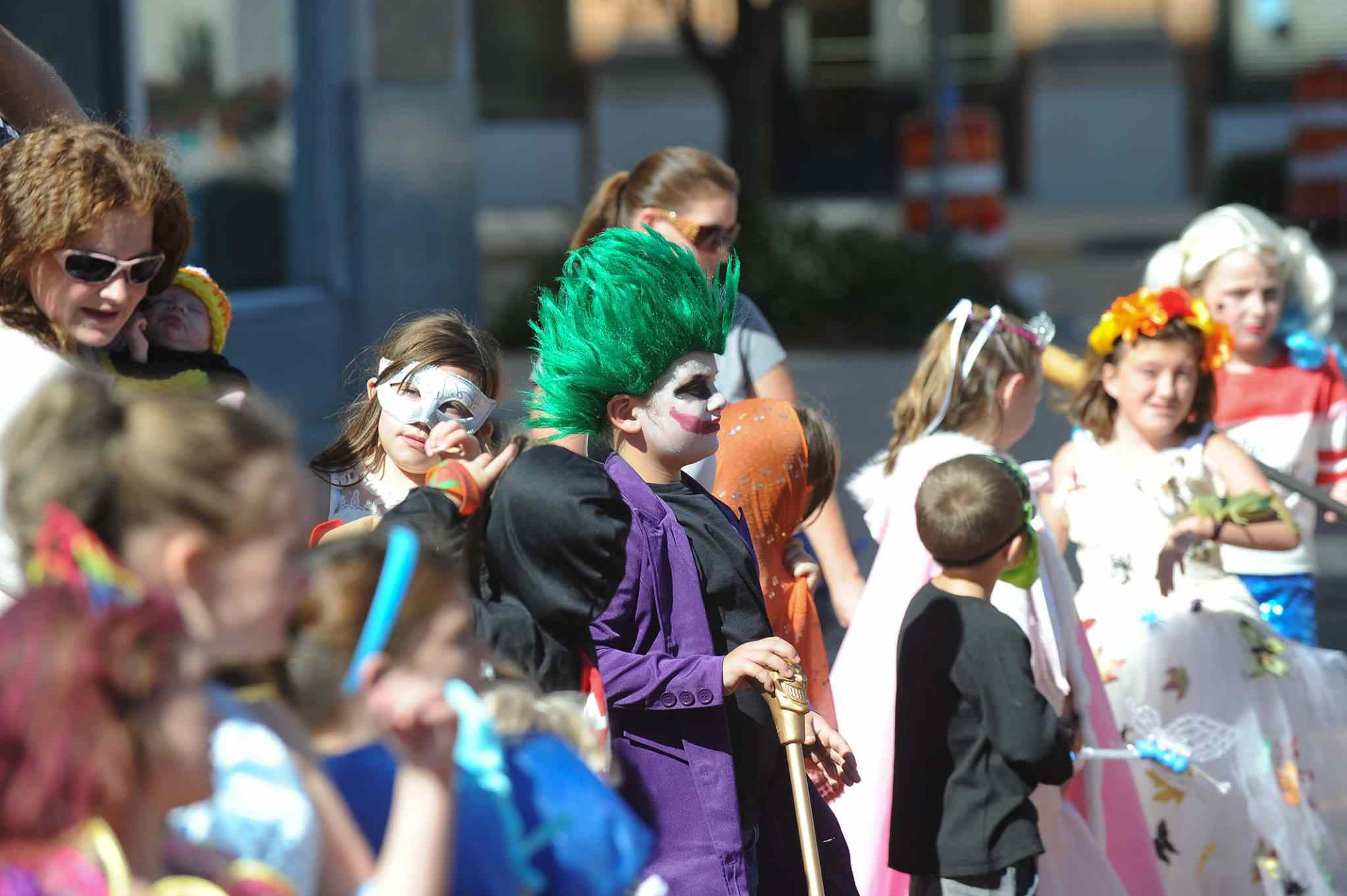 Costumed kids at Boo on Bell