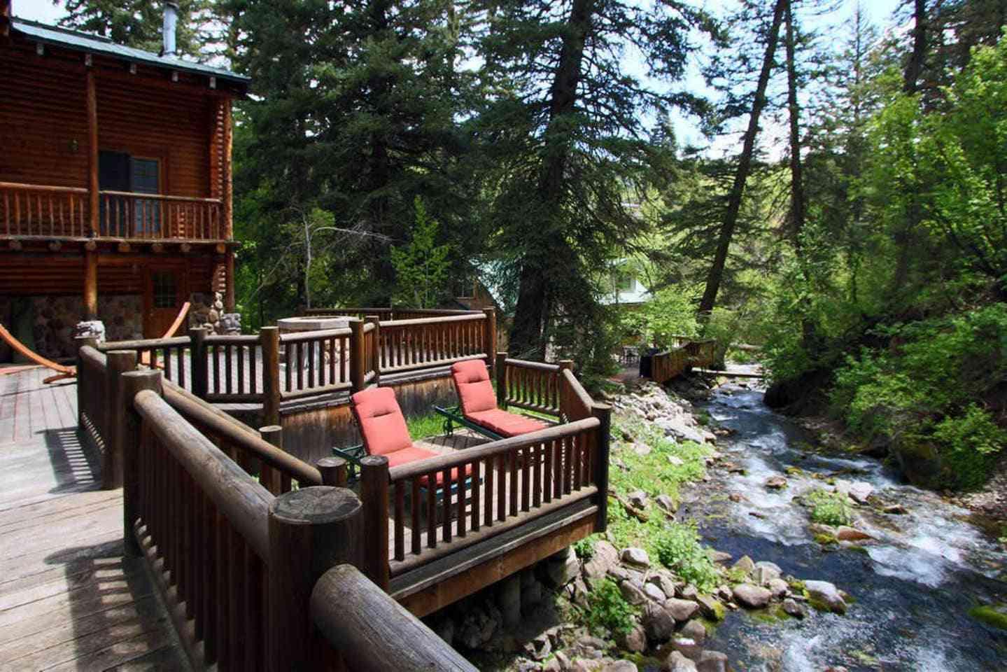 Log Cabin on the Stream