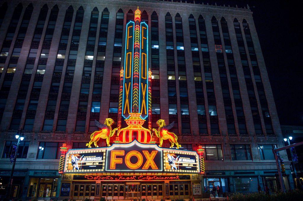 Exterior of Fox Theatre in Detroit