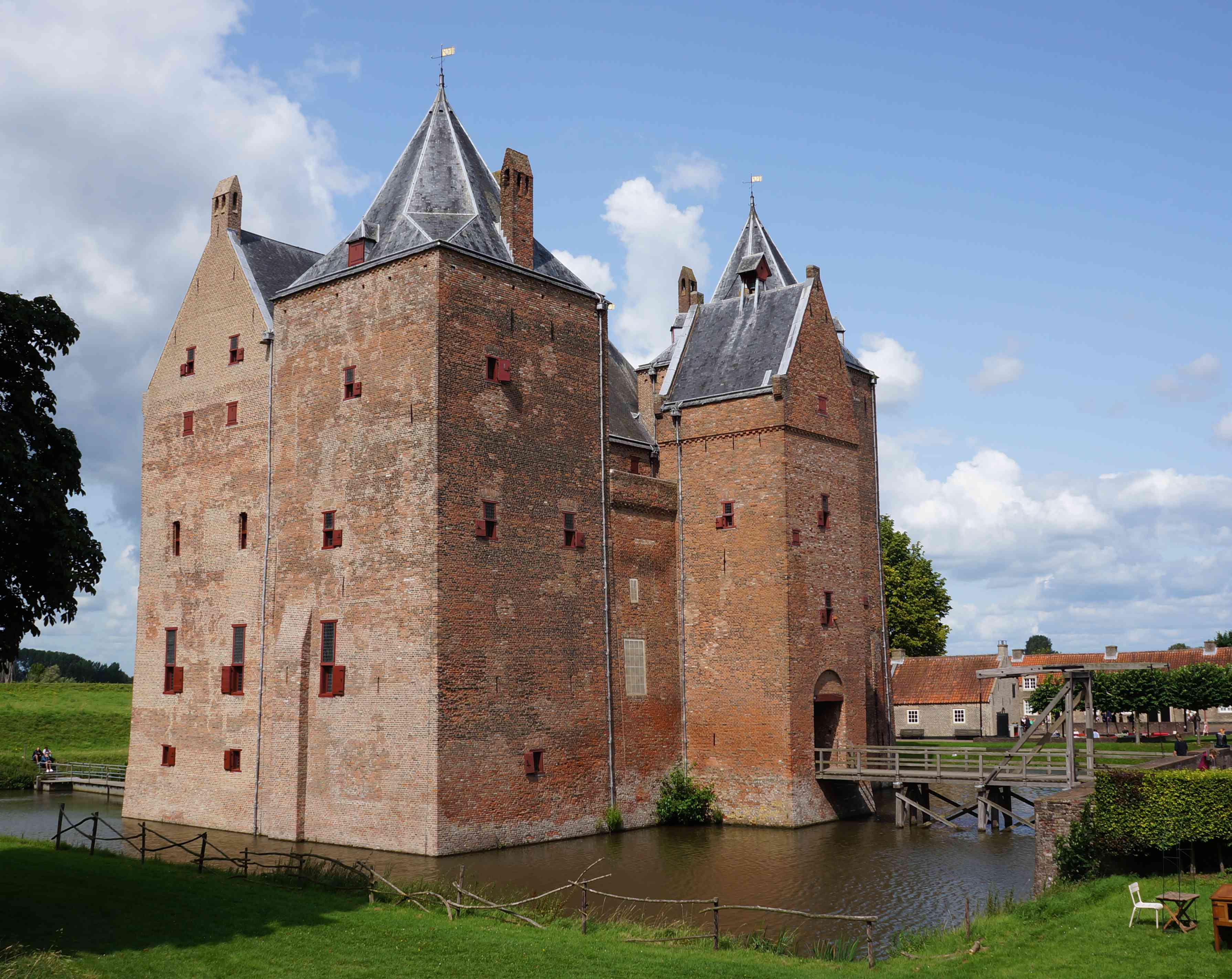 Loevestein medieval castle in the Netherlands