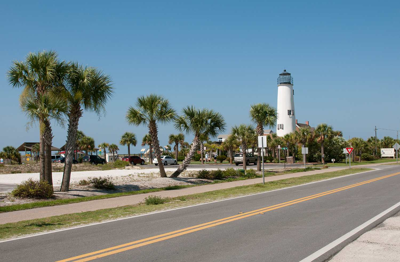Lighthouse on St George Island northwest Florida