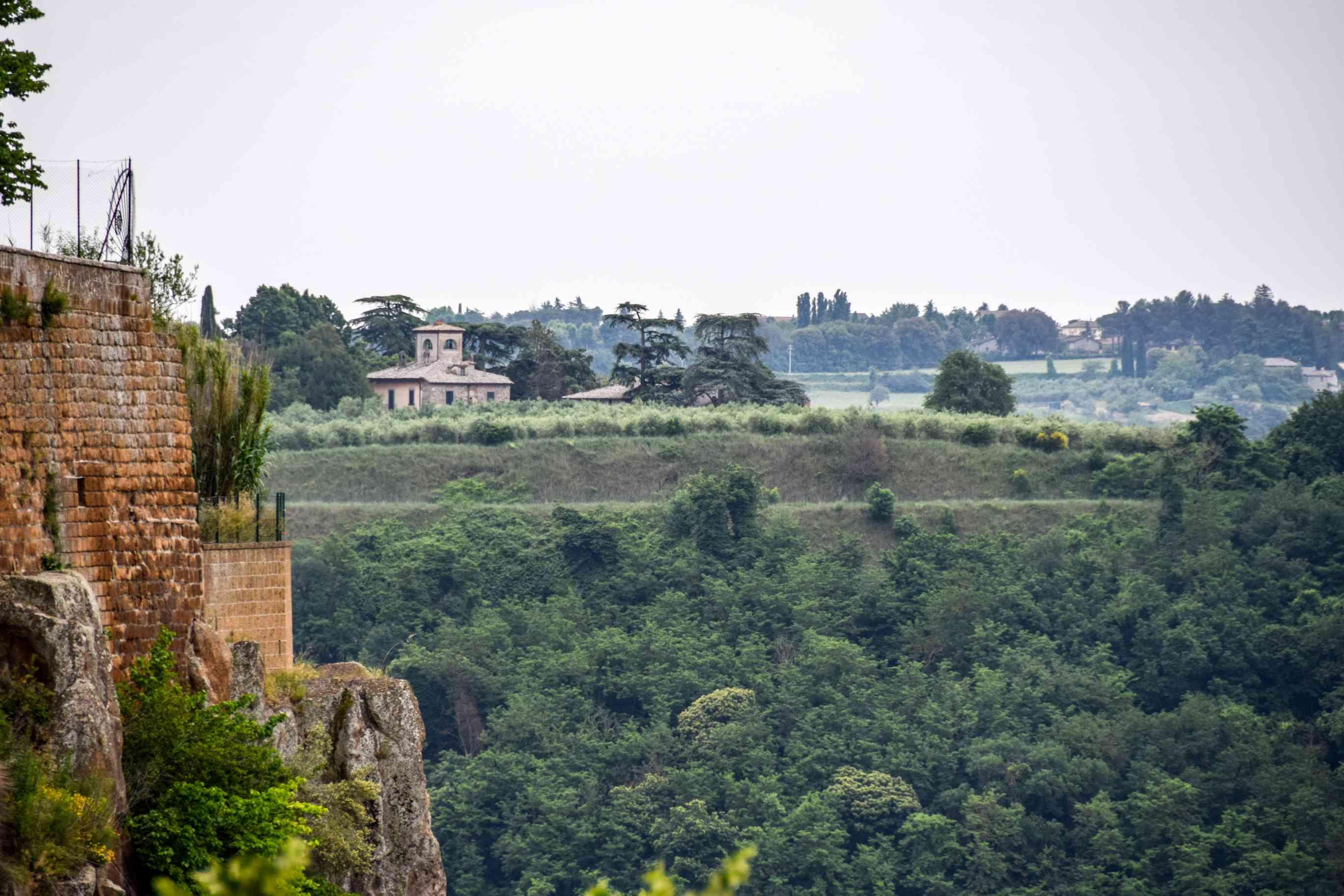 Green hills around Orvieto