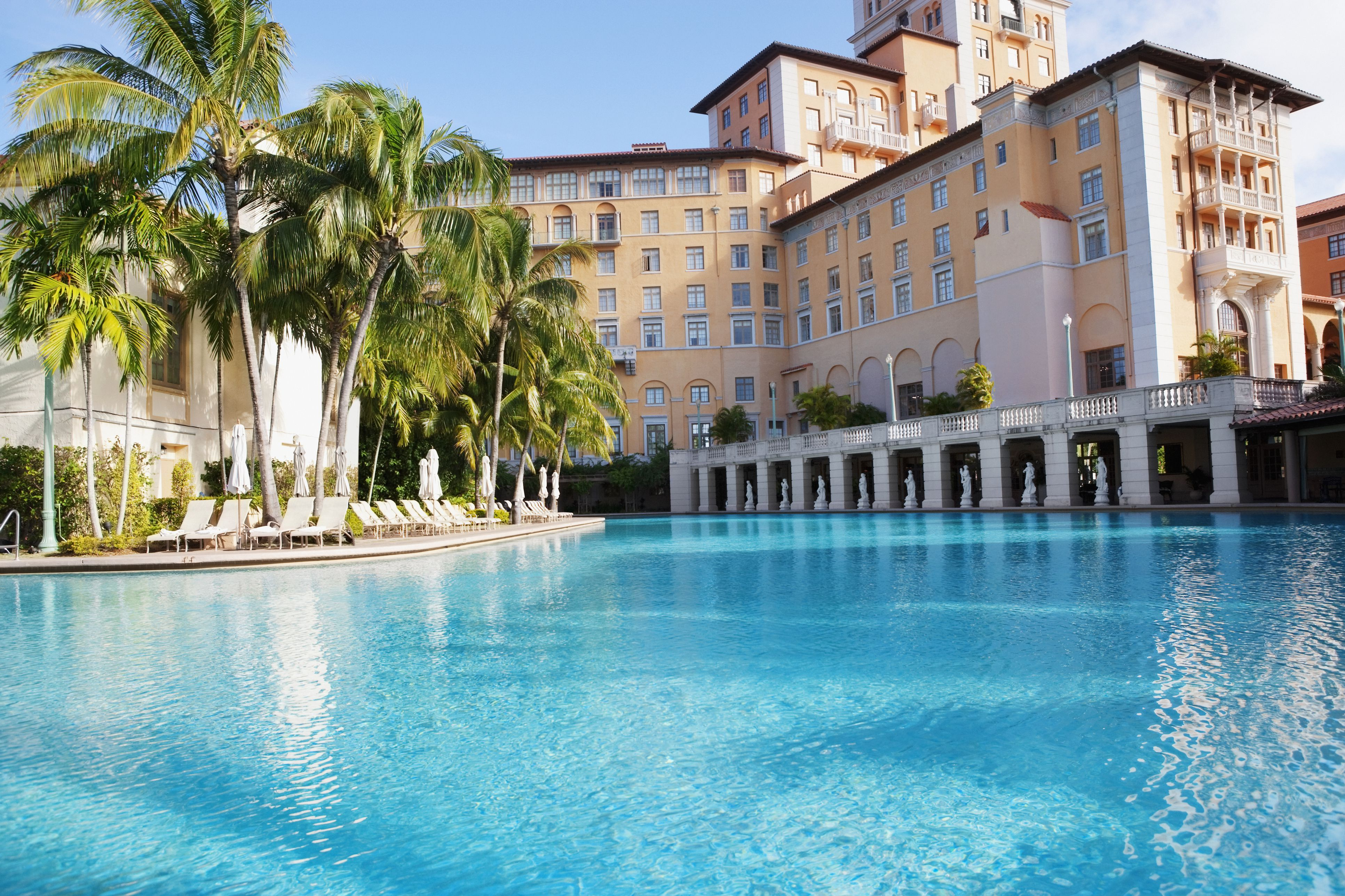 Swimming pool at a luxury hotel,Biltmore Hotel,Coral Gables,Florida,USA