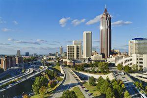 USA, Georgia, Atlanta, View of downtown