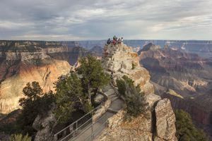 The view from the end of the Bright Angel Trail in the Grand Canyon