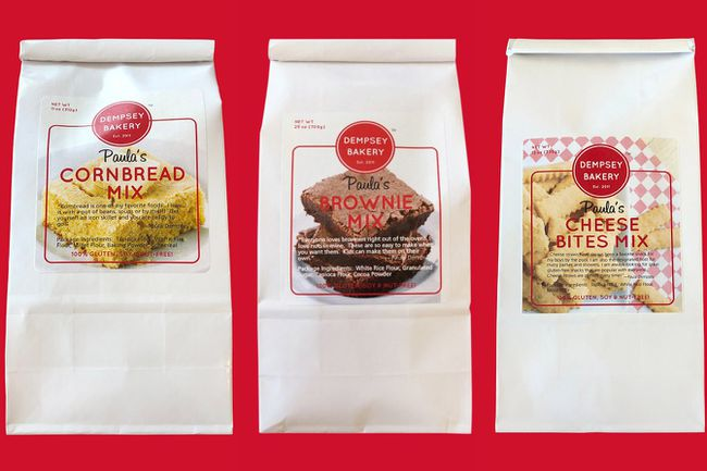Three packages of baking mix from Dempsey Bakery