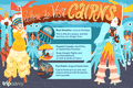 Illustration of people in elaborate costumes for Cairns festival with text describing the best time to visit
