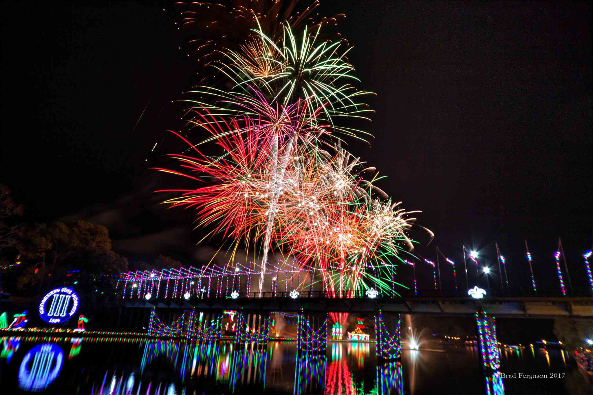 Fireworks during Natchitoches Christmas