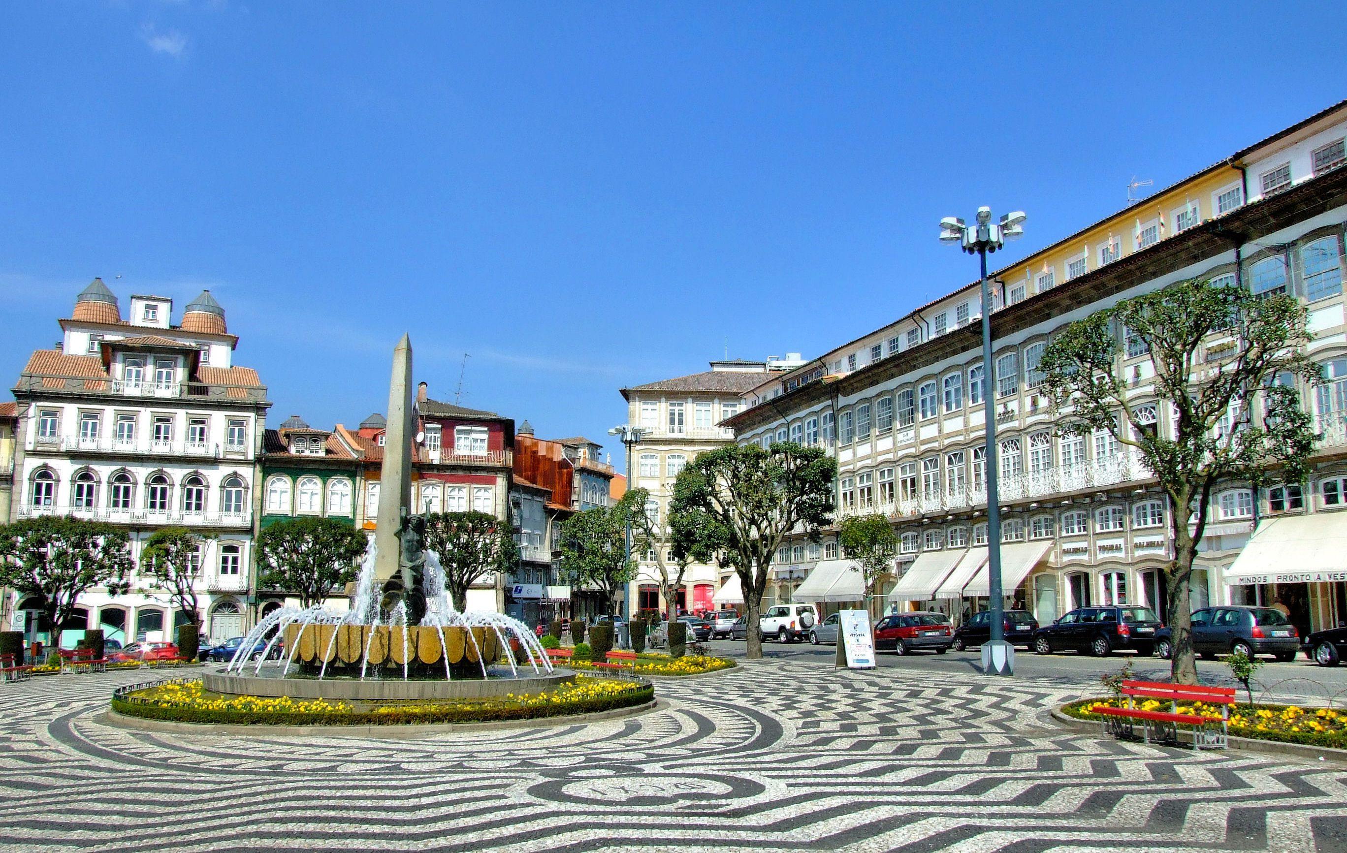 Toural square in Guimaraes, Portugal.