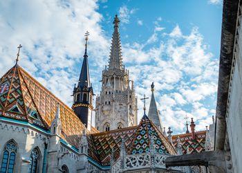 Budapest Cathedral near Fishermans Bastion Hungary