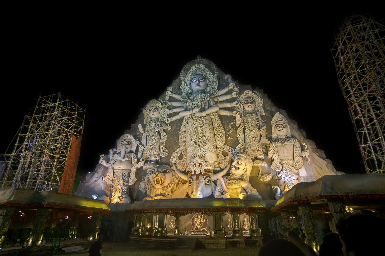 World's biggest Durga idol.