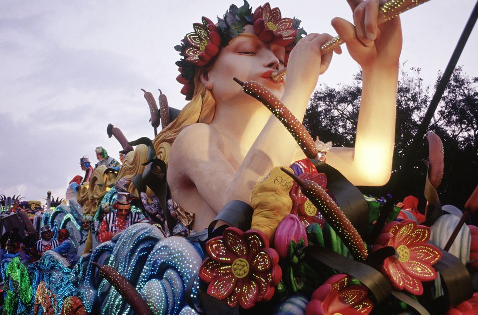 A float in the Mardi Gras parade.