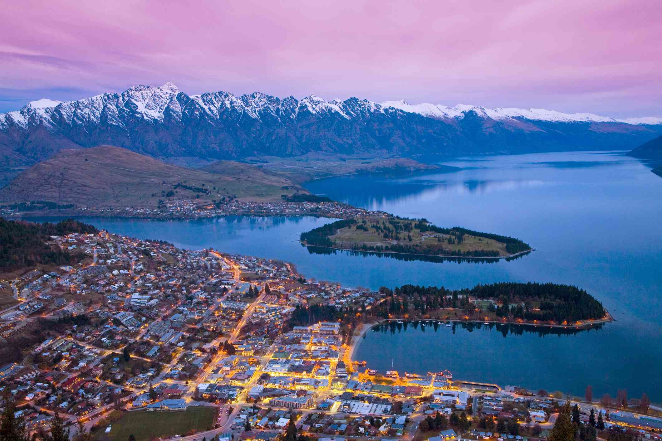 Queenstown and 'The Remarkables' mountain range