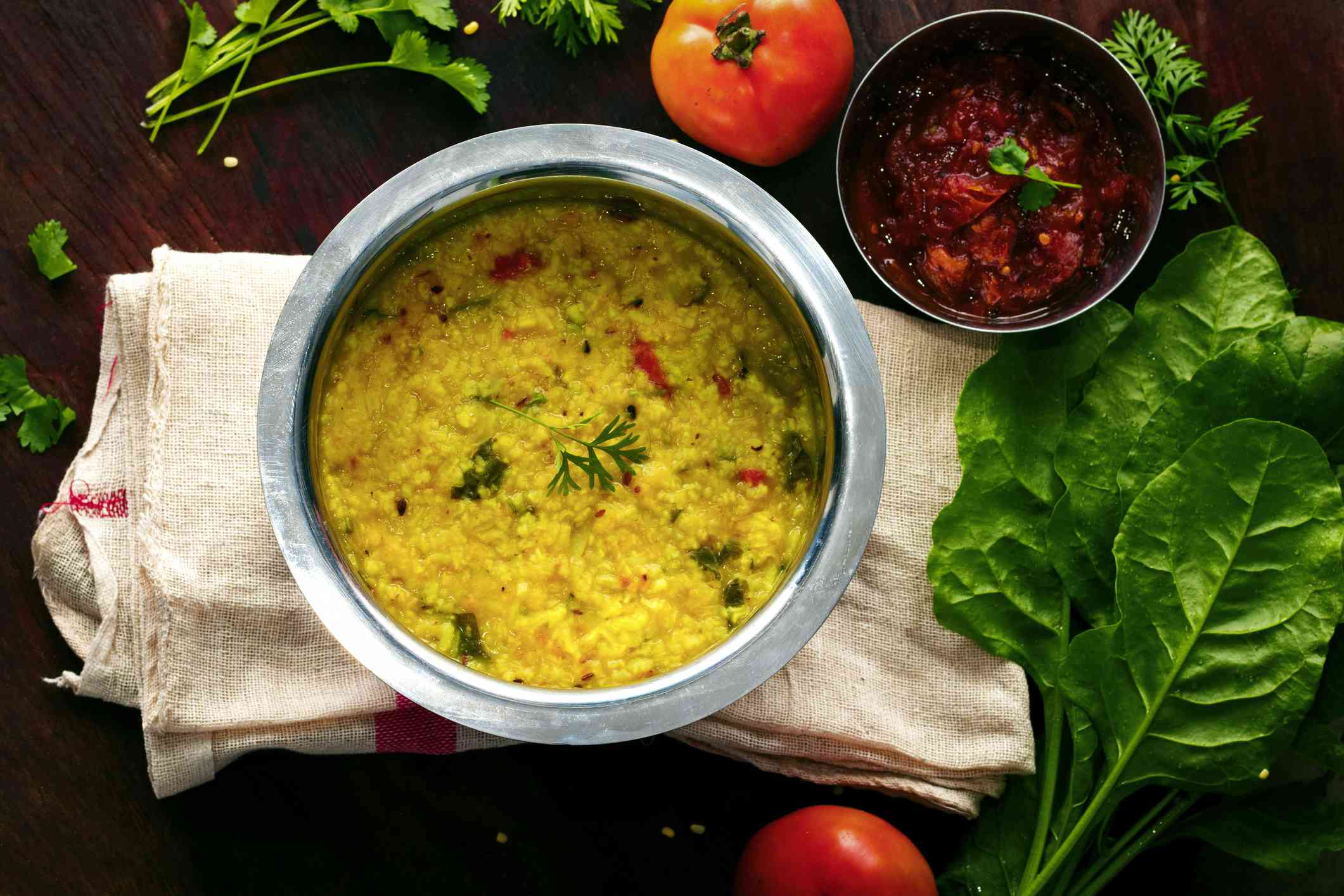 Famous Indian Food Khichdi is ready to serve.
