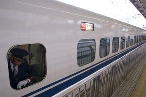 A train waiting at the platform