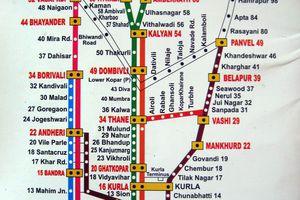 Mumbai train map