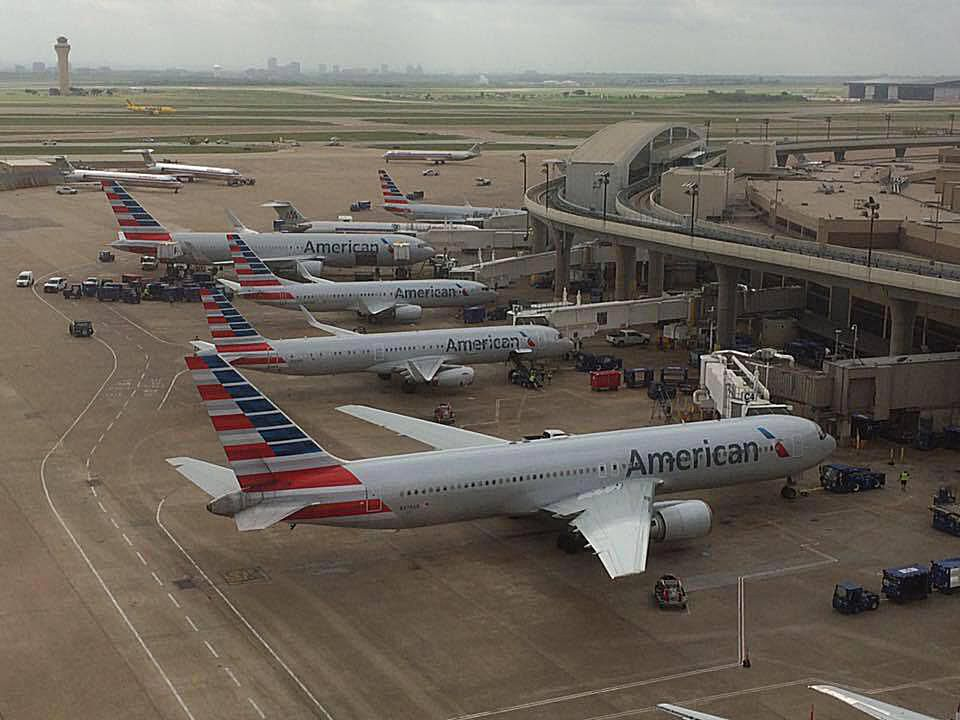 American Airlines at its Dallas/Fort Worth International Airport hub.