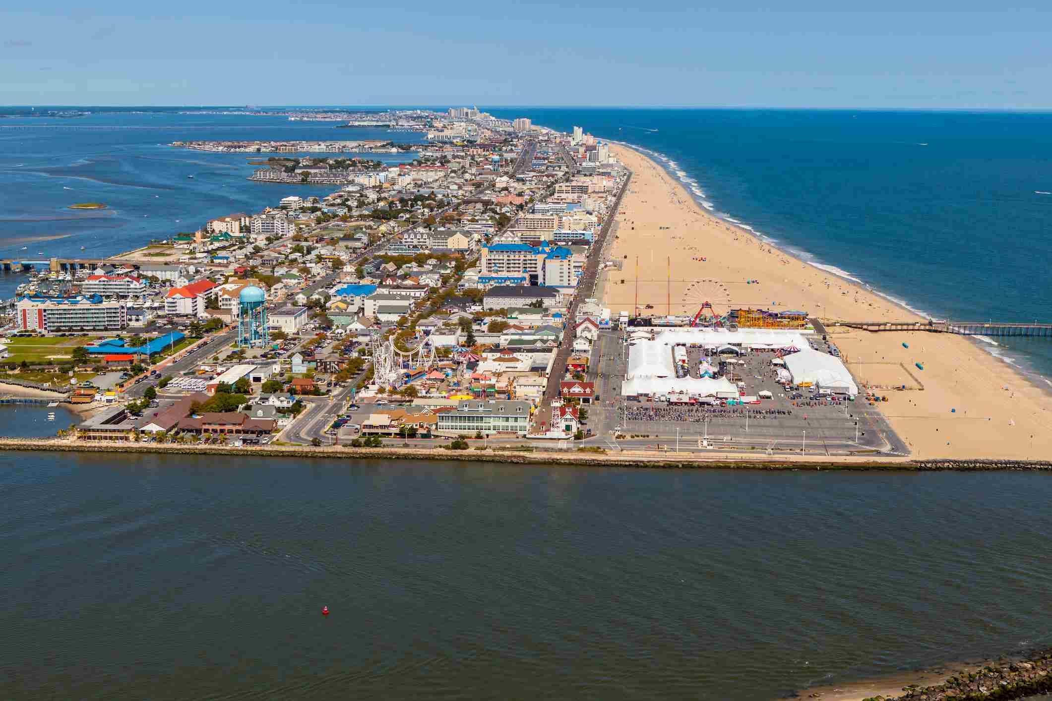 Aerial view of Ocean City, MD