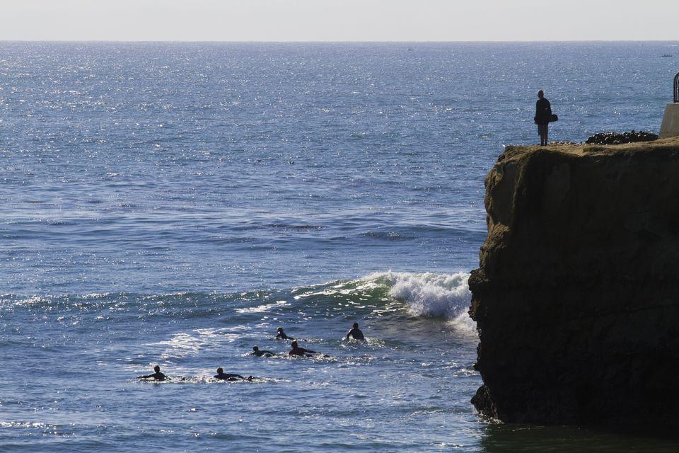 Steamer Lane Surfers Santa Cruz