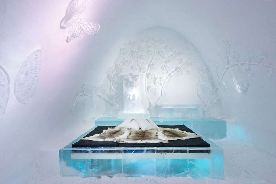 ice hotel room