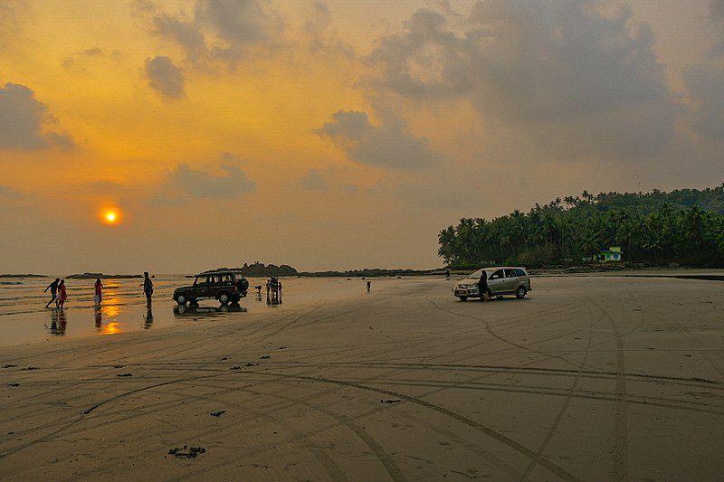 Cangrejo en la playa Chandipur