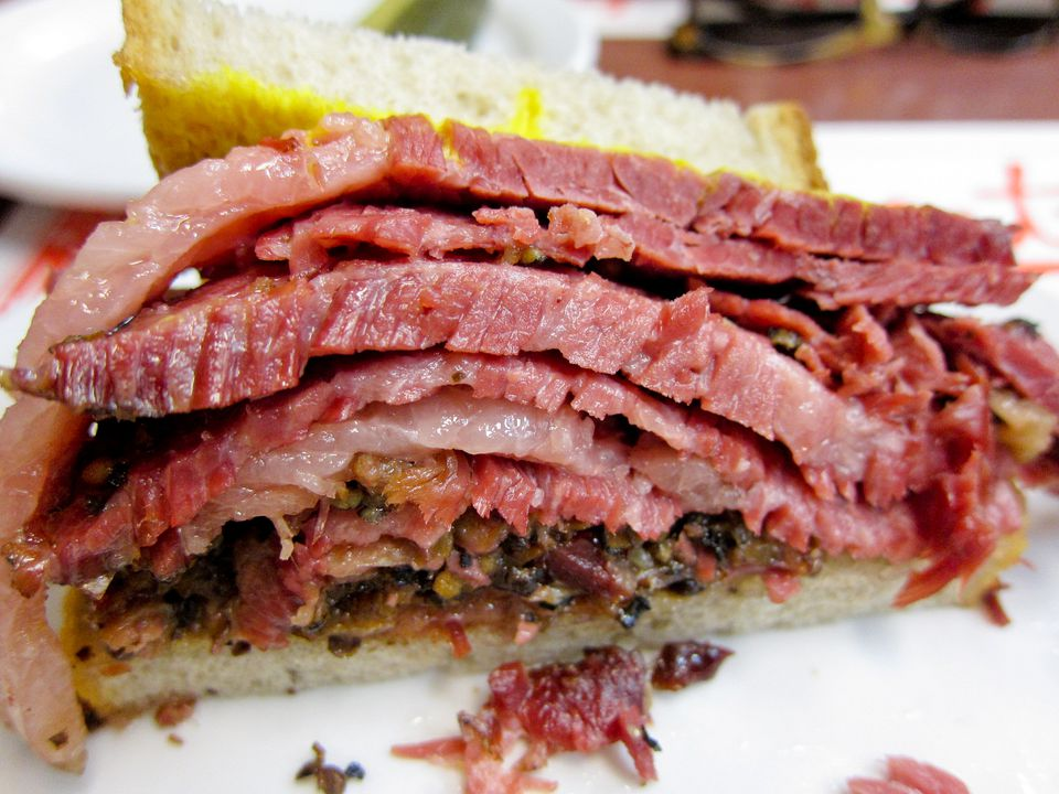 Late night foods in Montreal that you have to eat include smoked meat.