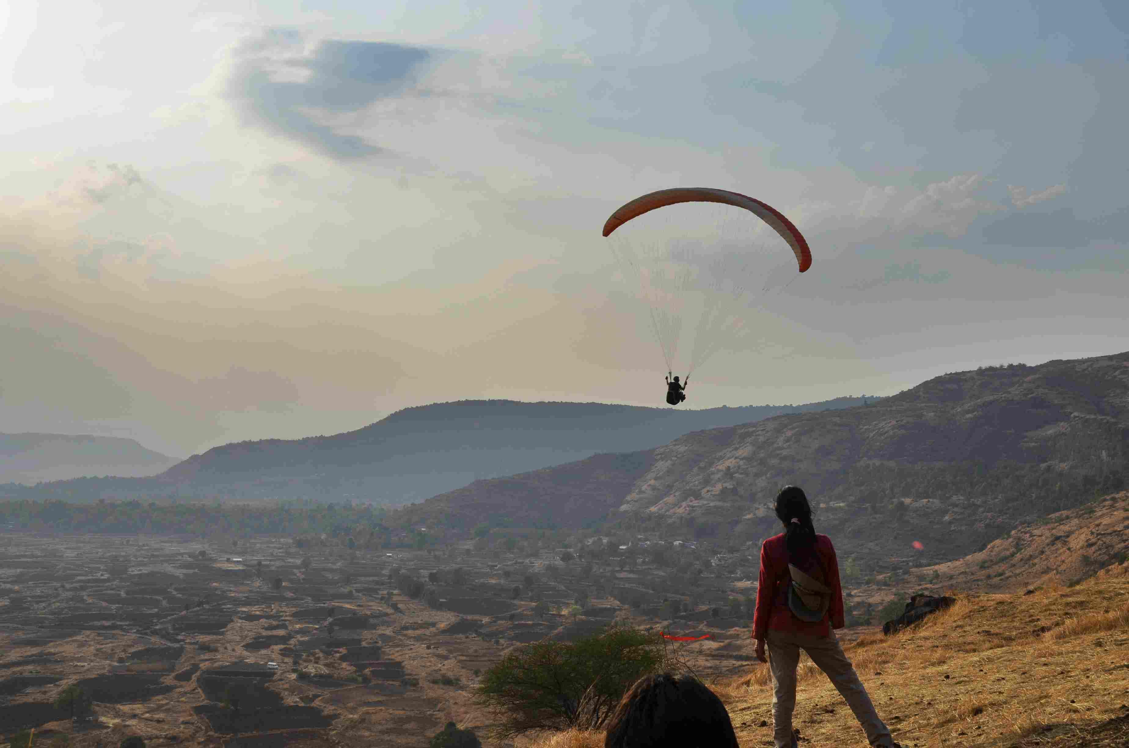 Paragliding at Kamshet.