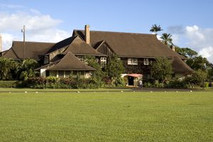 Kilohana Plantation, restaurant and garden.