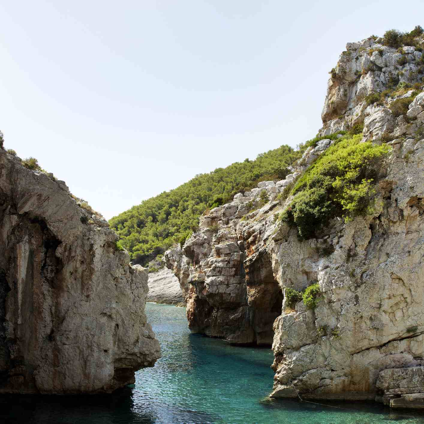 Stiniva Cove on the island of Vis, Croatia