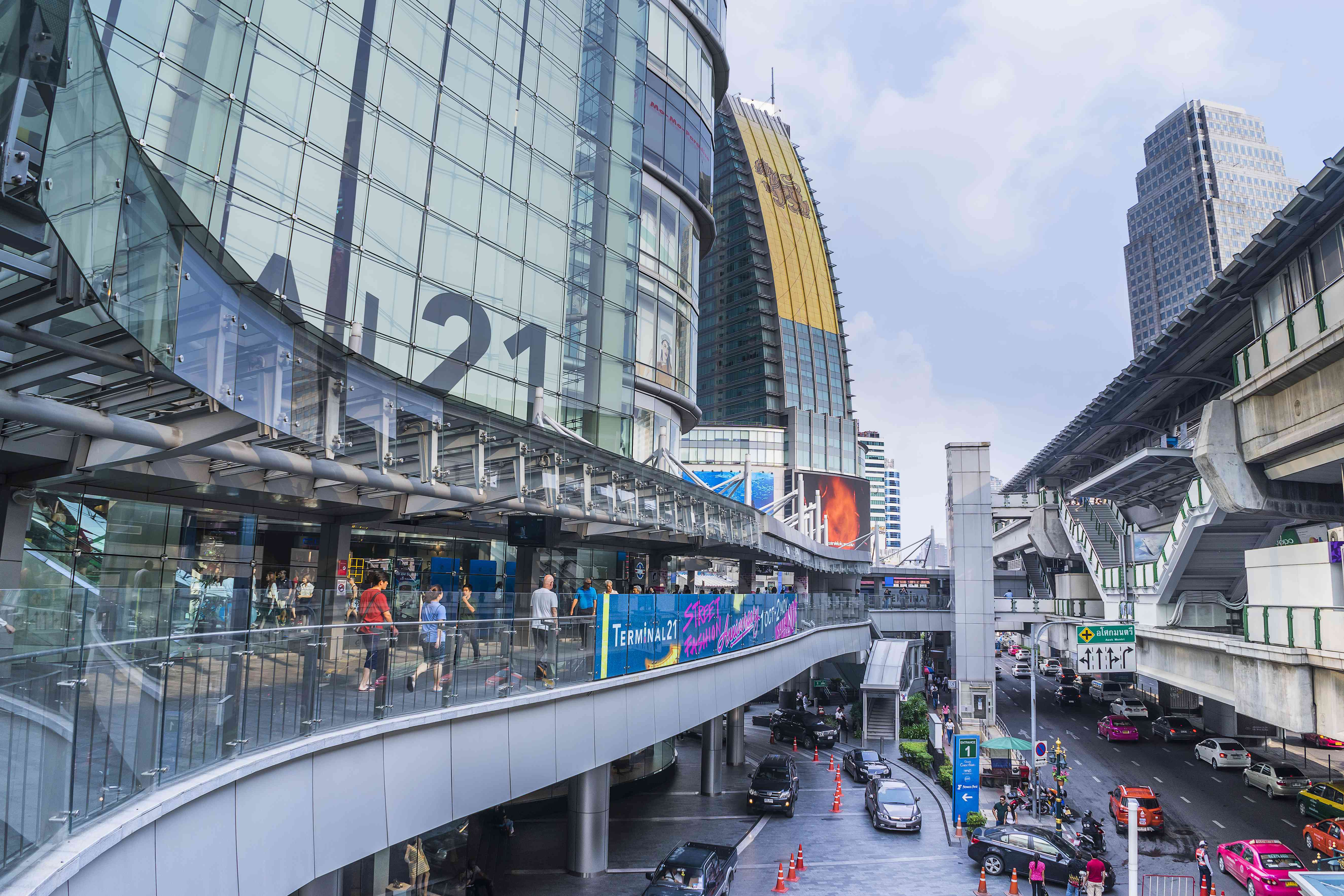 Outside view of the Terminal 21 Mall in Bangkok