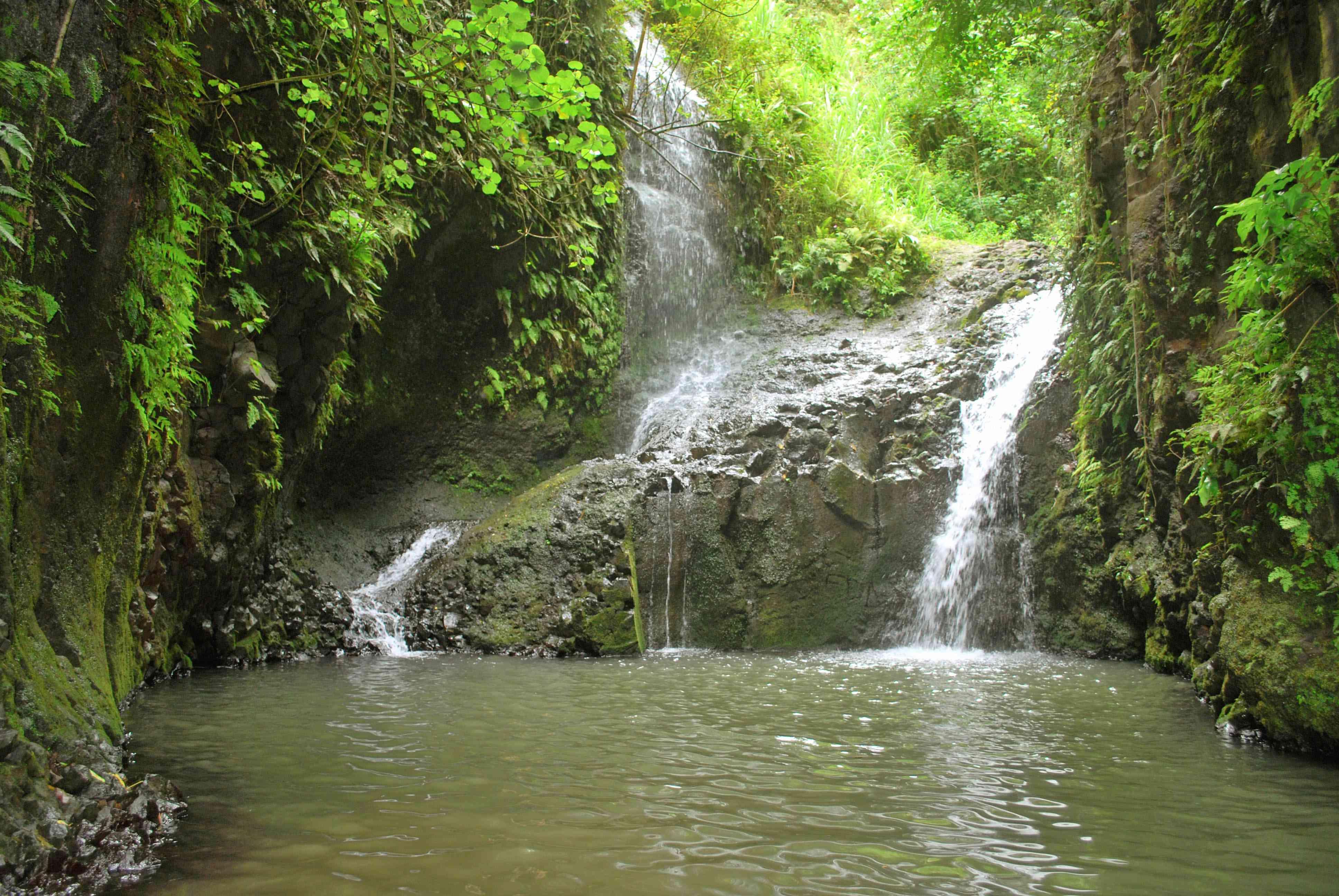 Maunawili Falls in Oahu, Hawaii