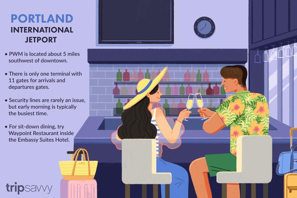 an illustration of portland international jetport with some tips