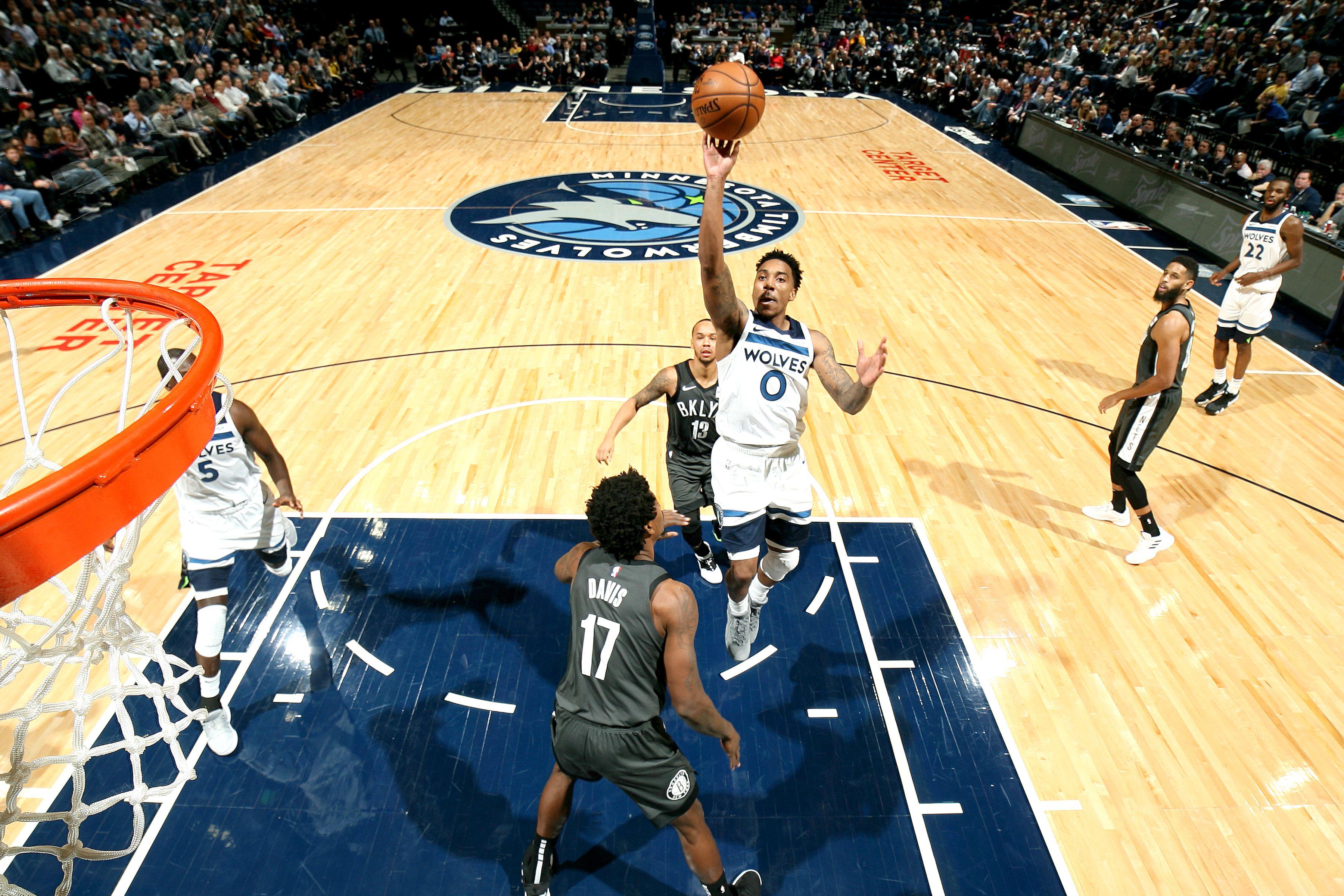 Juego de baloncesto Minnesota Timberwolves contra los Brooklyn Nets