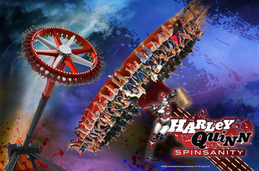 Harley Quinn Spinsanity ride at Six Flags