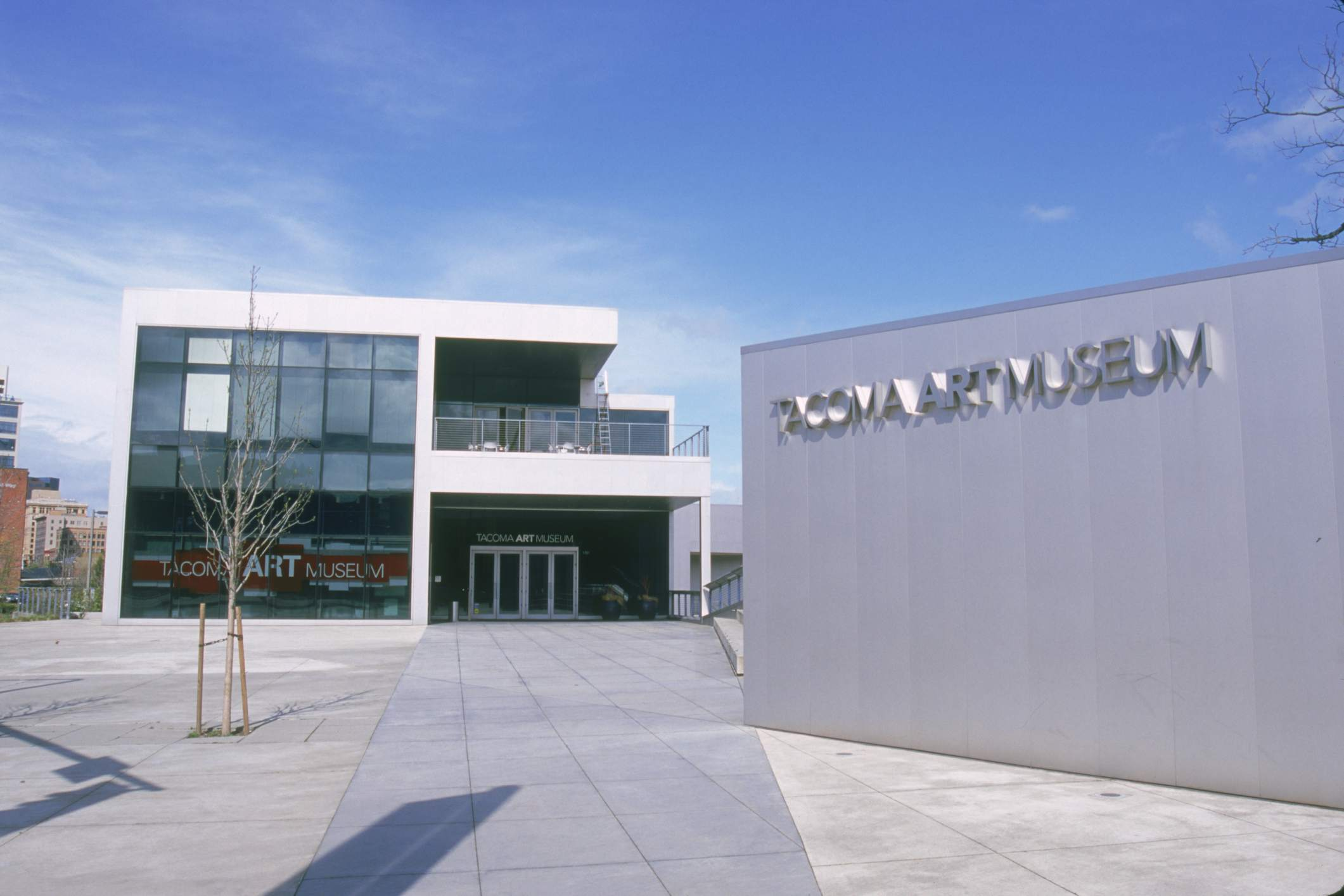 Outside the Tacoma Museum of Art in Tacoma, WA