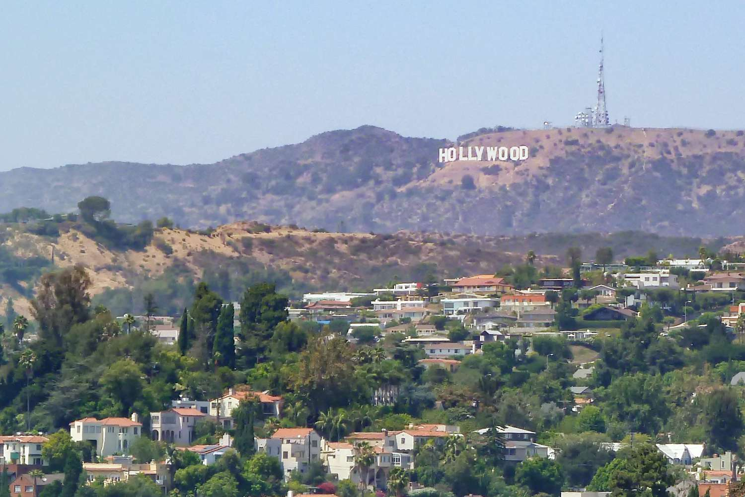 Hollywood Sign from Hollyhock House