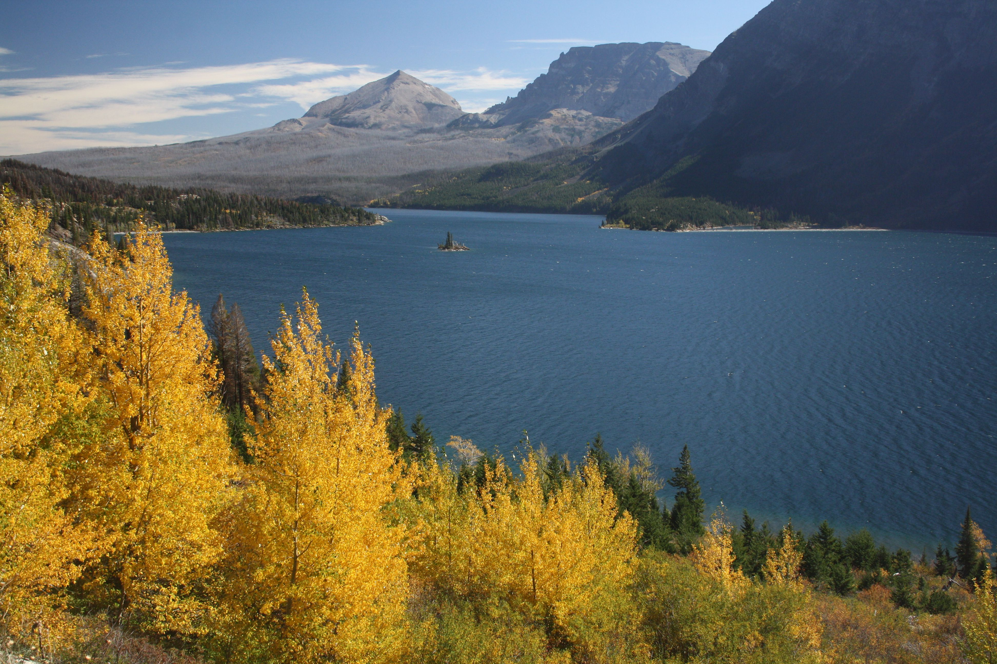 St. Mary Lake and autumn colors