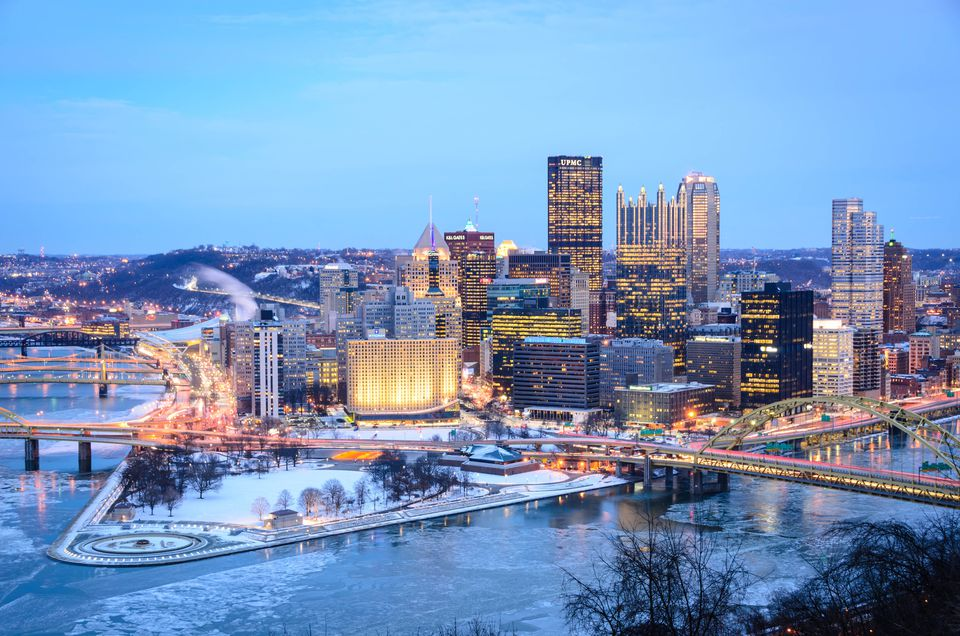 Pittsburgh in the winter