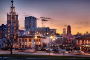 Country Club Plaza at Sunset in Kansas City