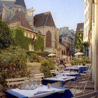 Chez Julien cafe near Church Saint-Gervais on Rue des Barres in Paris