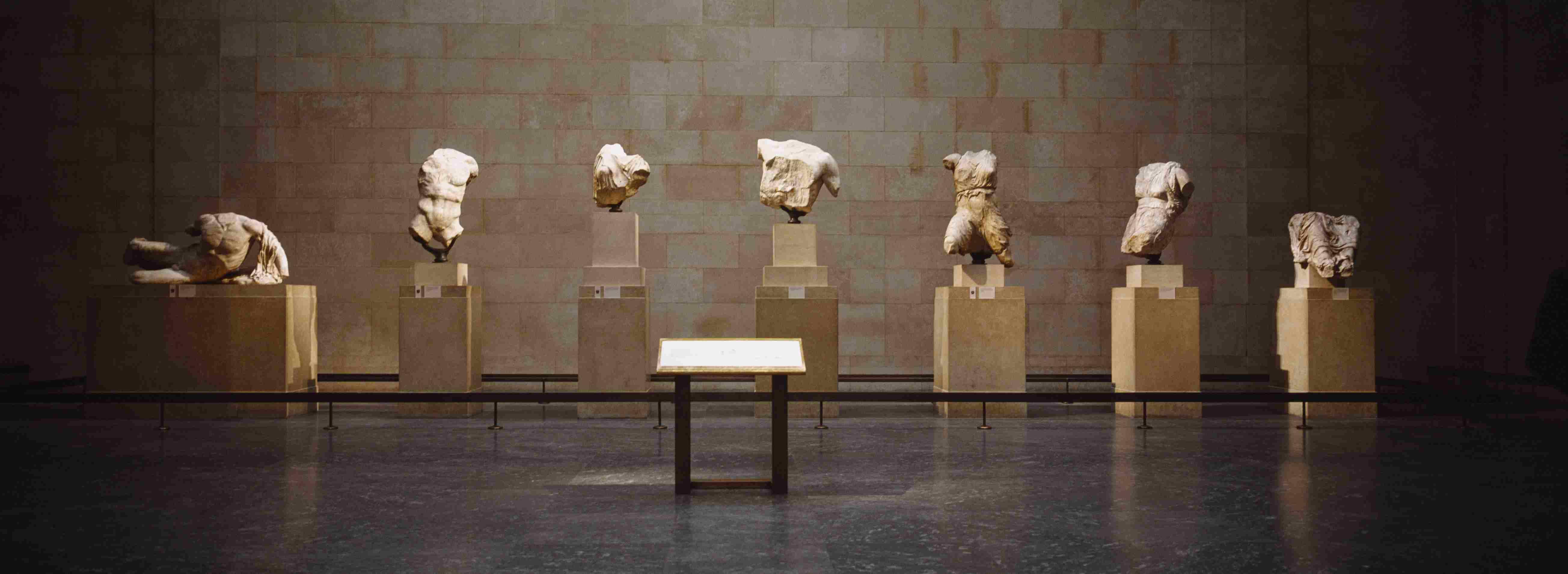 Elgin Marbles muestra en un museo, Museo Británico, Londres, Inglaterra