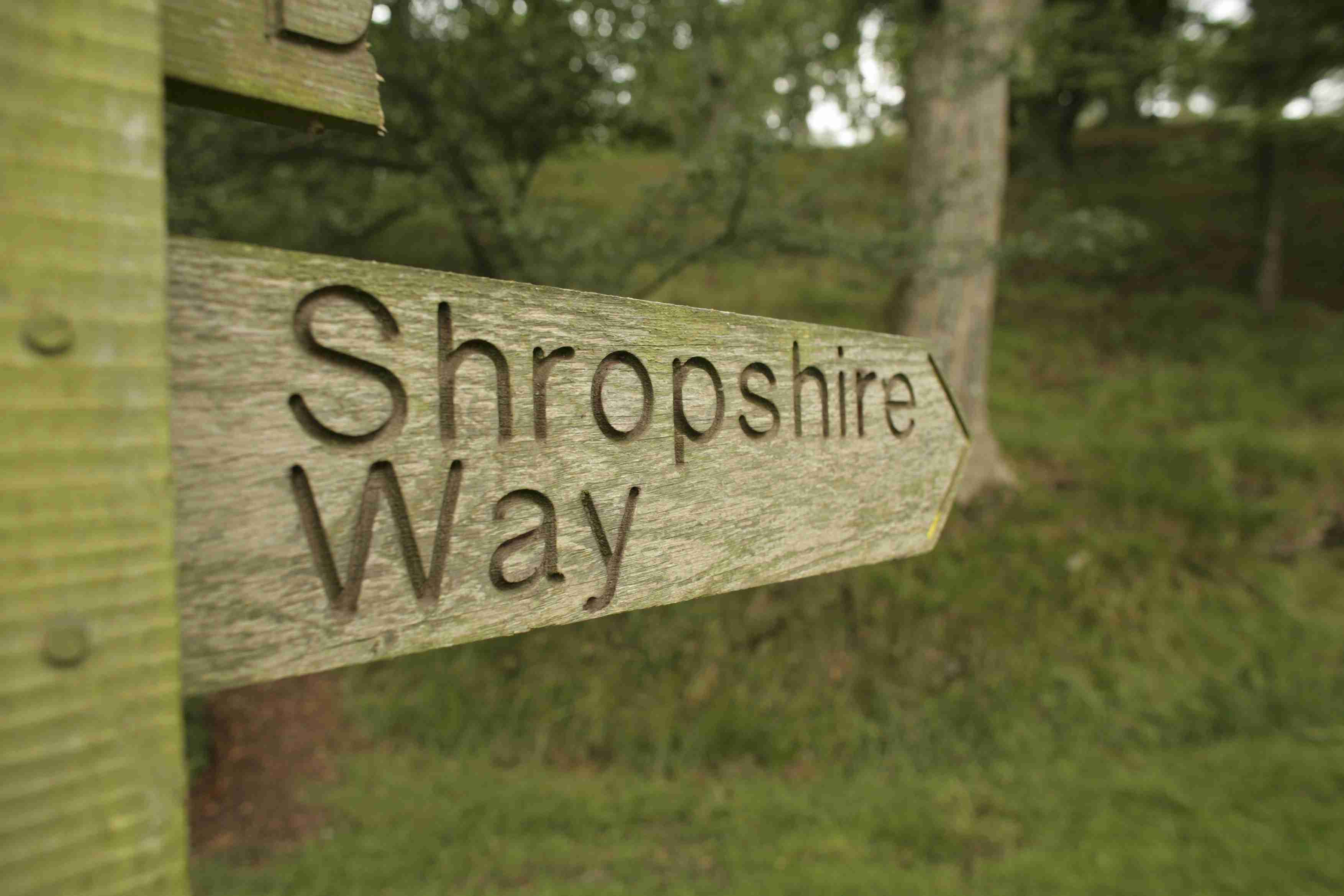 Signpost for The Shropshire Way