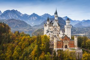 Germany, Bavaria, Hohenschwangau, Neuschwanstein Castle