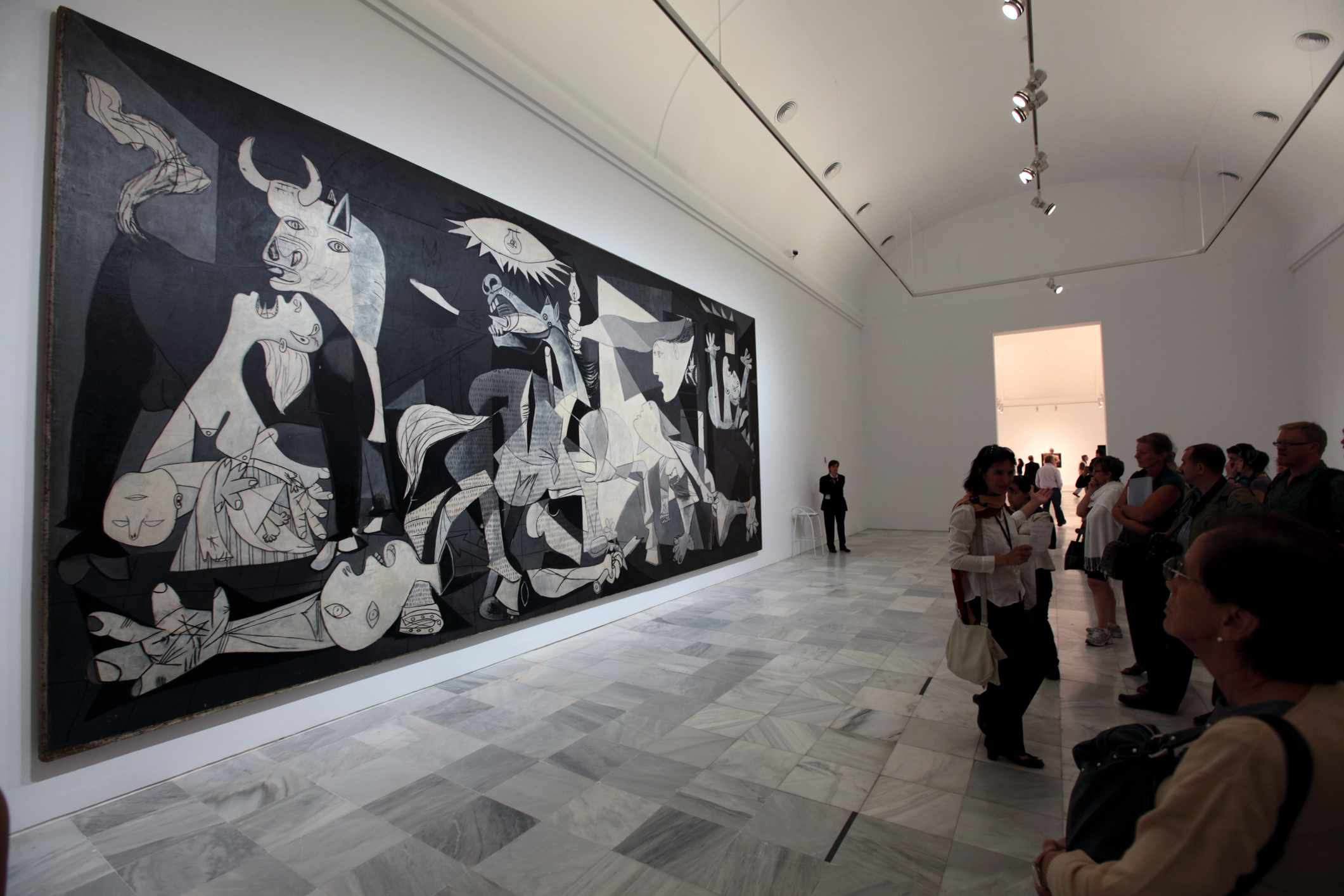 Pablo Picasso's Guernica in Reina Sofia National Art Museum
