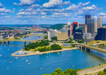 Aerial Pittsburgh Skyline